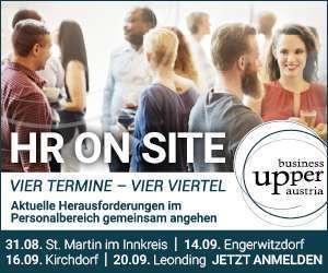 KW 36 (9.-16.9.) Fix-Banner groß Business Upper Austria HR on site Veranstaltung KI