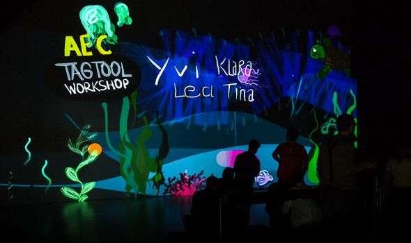 Klang und Malerei für Kinder im Ars Electronica Center