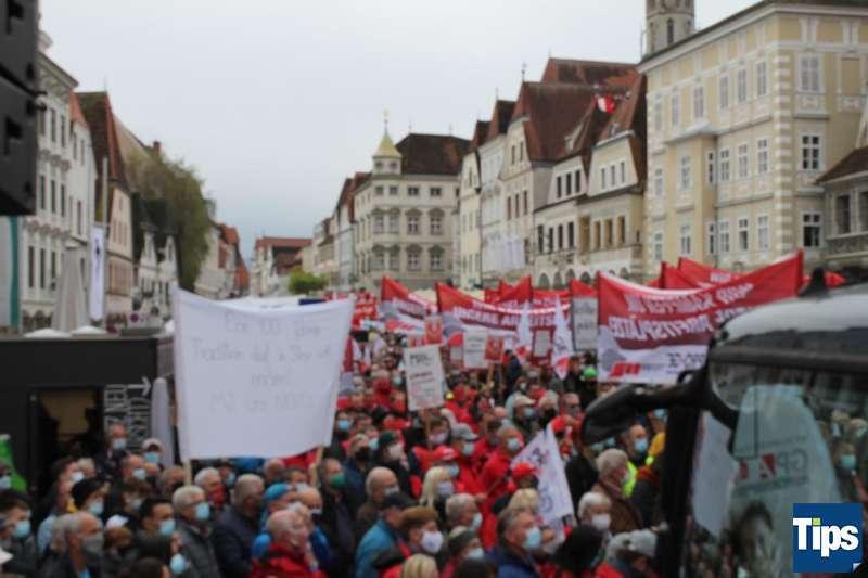MAN Steyr: Warnstreik und Kundgebung - Bild 1