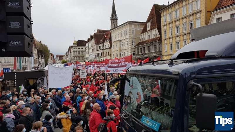 MAN Steyr: Warnstreik und Kundgebung - Bild 5