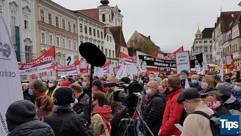MAN Steyr: Warnstreik und Kundgebung - Bild 7