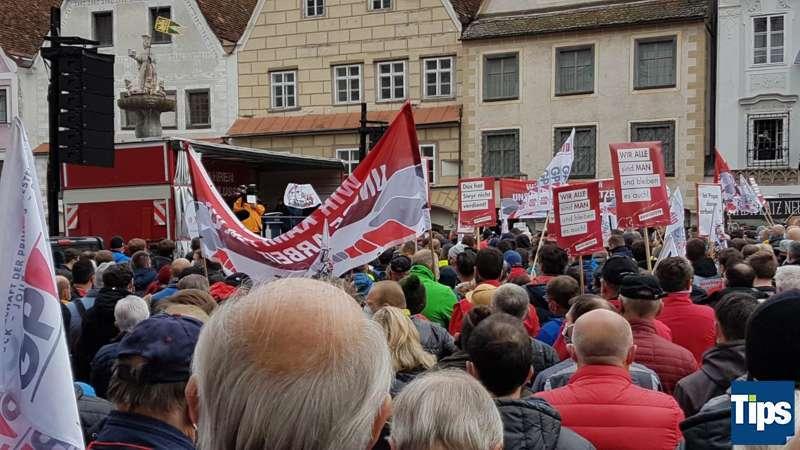 MAN Steyr: Warnstreik und Kundgebung - Bild 8