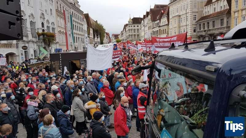 MAN Steyr: Warnstreik und Kundgebung - Bild 9