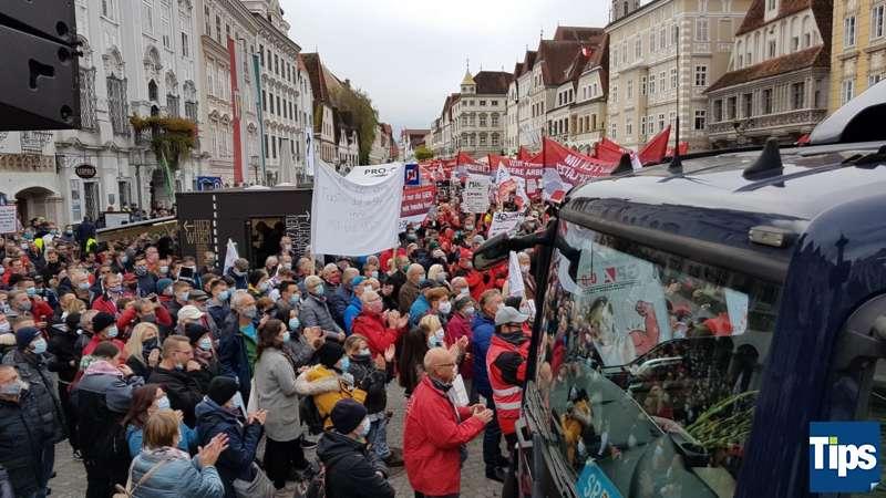 MAN Steyr: Warnstreik und Kundgebung - Bild 11