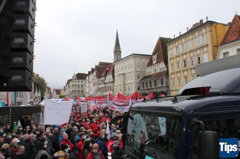 MAN Steyr: Warnstreik und Kundgebung - Bild 14