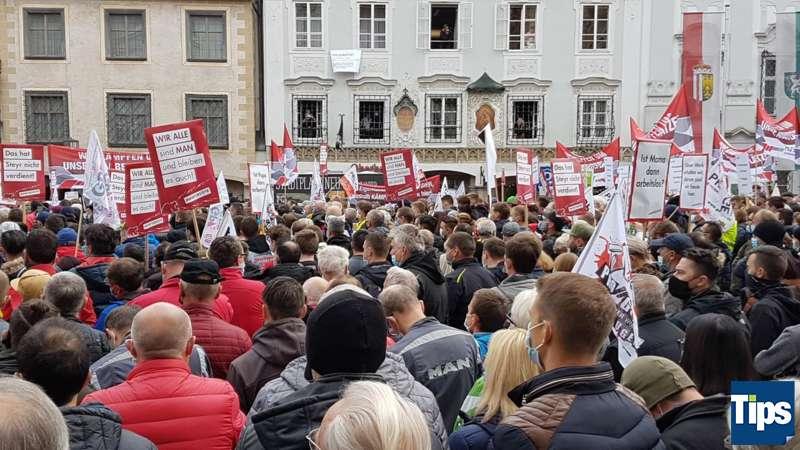 MAN Steyr: Warnstreik und Kundgebung - Bild 15