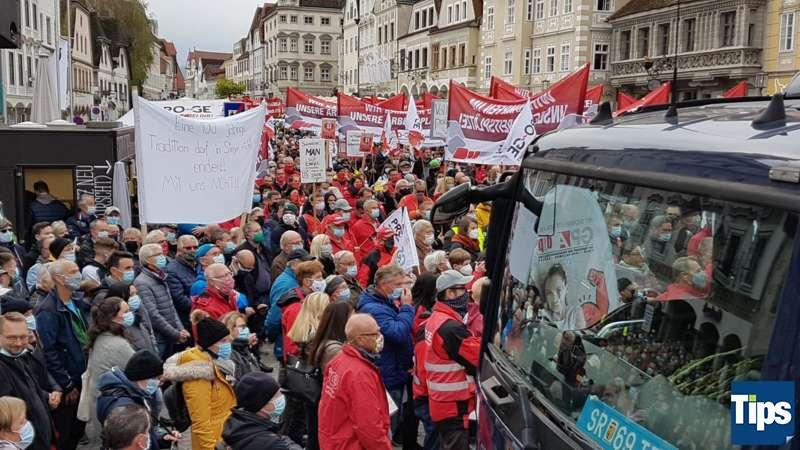 MAN Steyr: Warnstreik und Kundgebung - Bild 16