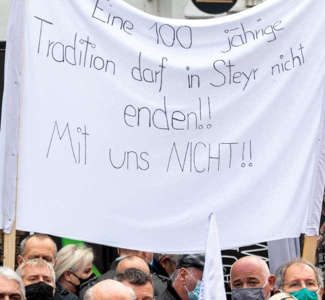 MAN Steyr: Warnstreik und Kundgebung - Bild 18