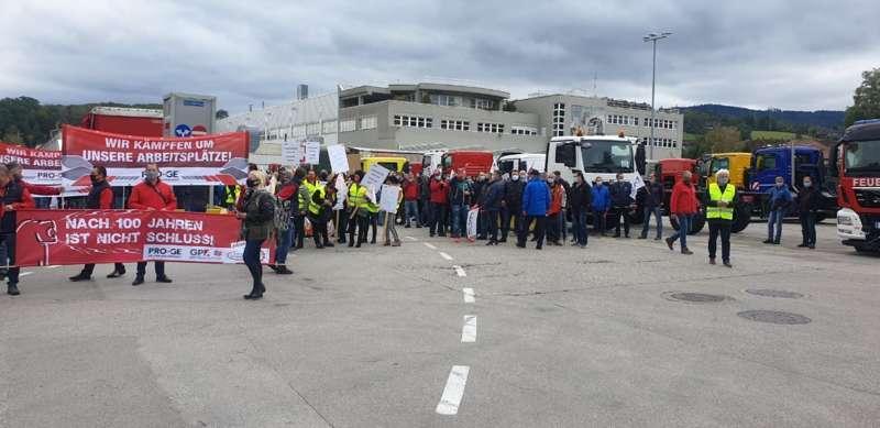 MAN Steyr: Warnstreik und Kundgebung - Bild 21