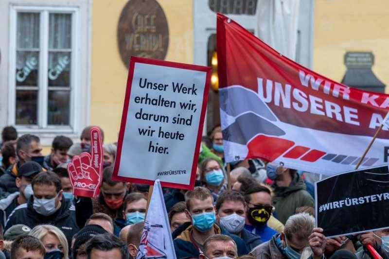 MAN Steyr: Warnstreik und Kundgebung - Bild 24