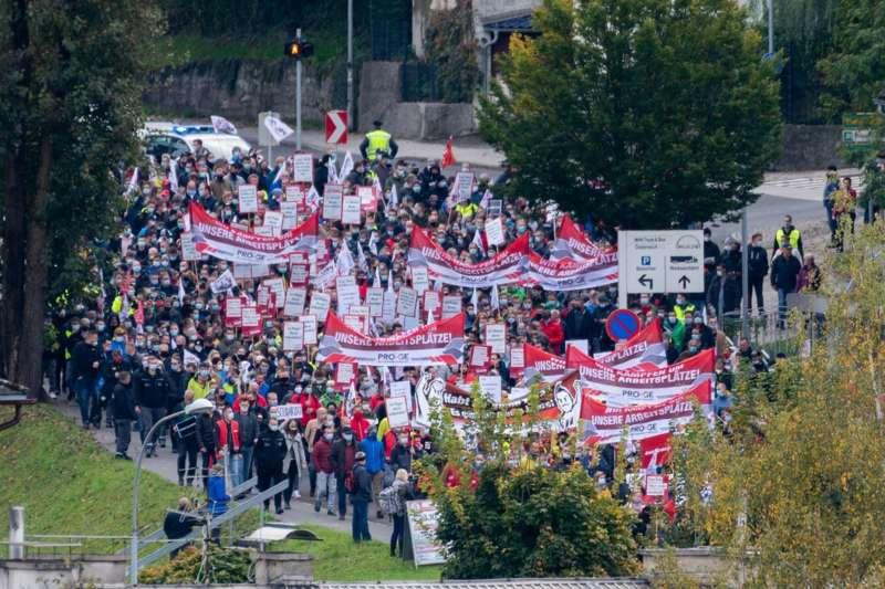 MAN Steyr: Warnstreik und Kundgebung - Bild 25