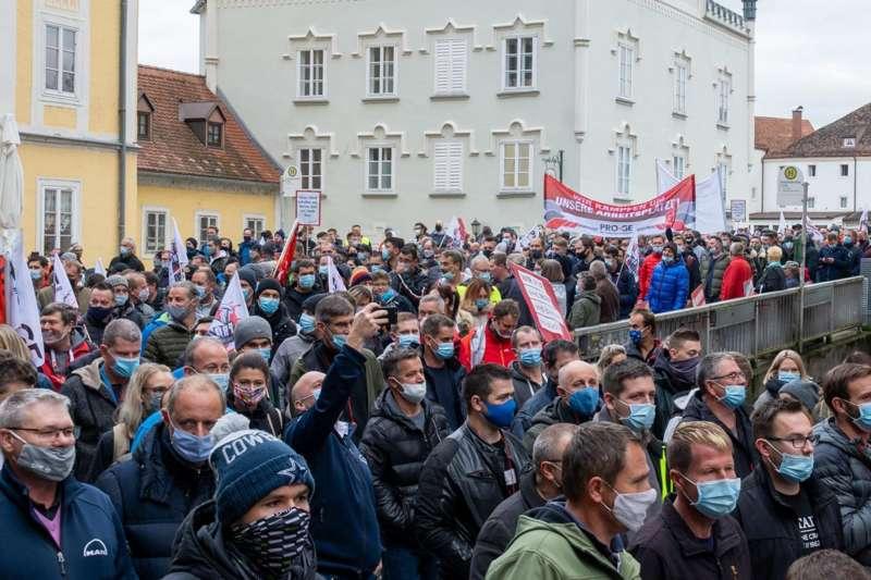 MAN Steyr: Warnstreik und Kundgebung - Bild 27