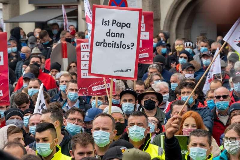 MAN Steyr: Warnstreik und Kundgebung - Bild 32
