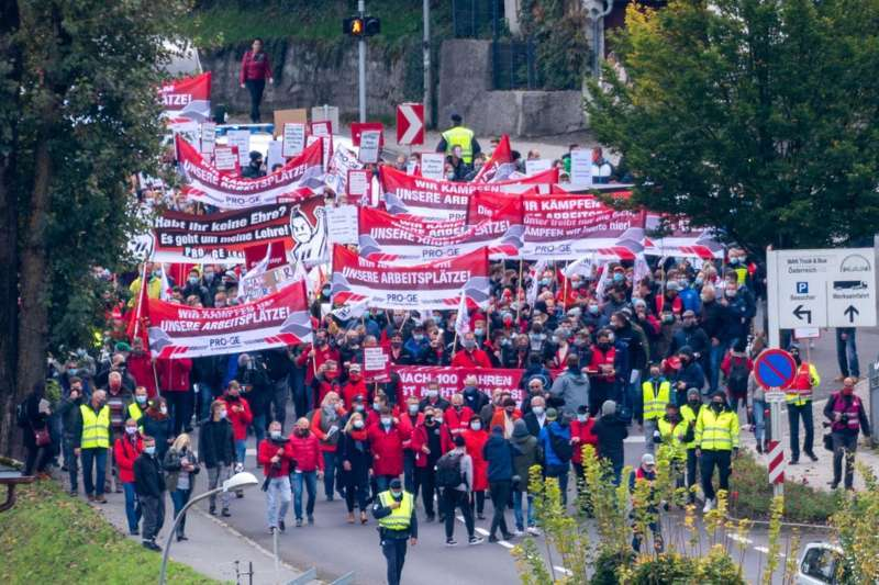 MAN Steyr: Warnstreik und Kundgebung - Bild 33