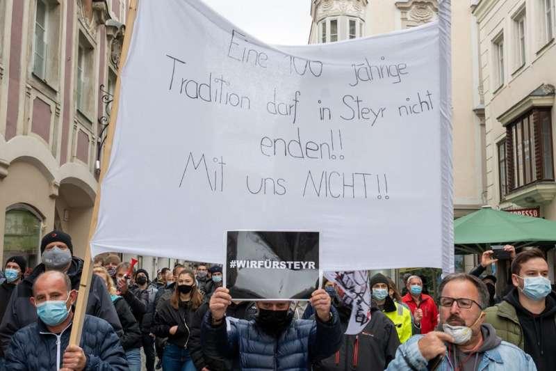 MAN Steyr: Warnstreik und Kundgebung - Bild 34