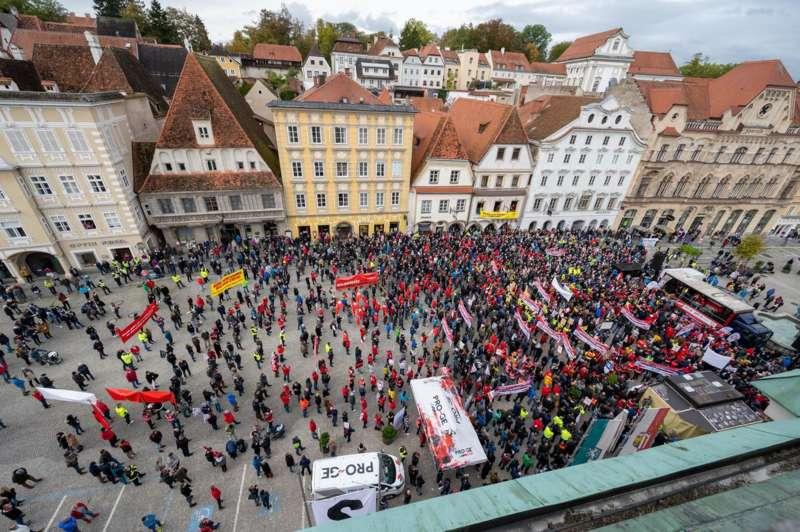 MAN Steyr: Warnstreik und Kundgebung - Bild 35