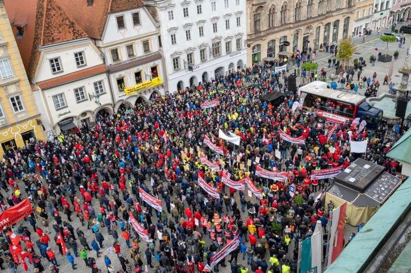 MAN Steyr: Warnstreik und Kundgebung - Bild 37