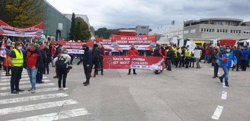 MAN Steyr: Warnstreik und Kundgebung - Bild 41