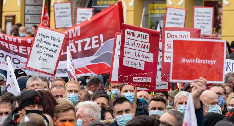 MAN Steyr: Warnstreik und Kundgebung - Bild 43