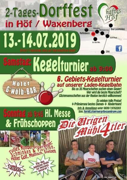 2-Tages-Dorffest im Herzhaften Höf 13.-14.07.2019 - Bild 1557939048