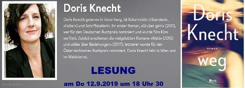 LESUNG mit Doris KNECHT - Bild 1