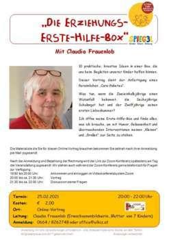 online Vortrag - Die Erziehungs-Erste-Hilfe-Box