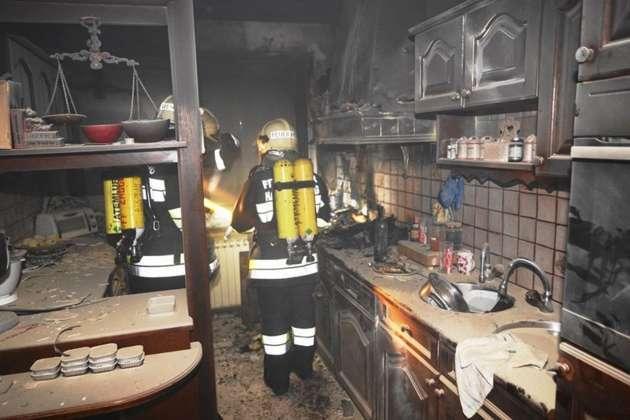 küchenbrand: feuerlöscher-einsatz verhinderte schlimmeres - Feuerlöscher Für Küche