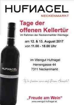 Tage der offenen Kellertür 2017 im Weingut Hufnagel, Neckenmarkt
