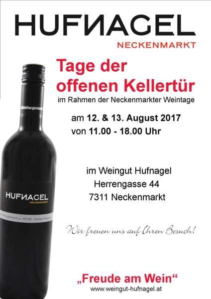 Tage der offenen Kellertür 2017 im Weingut Hufnagel, Neckenmarkt - Bild 1