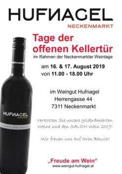 Tage der offenen Kellertür 2019 im Weingut Hufnagel, 7311 Neckenmarkt, Mittelburgenland