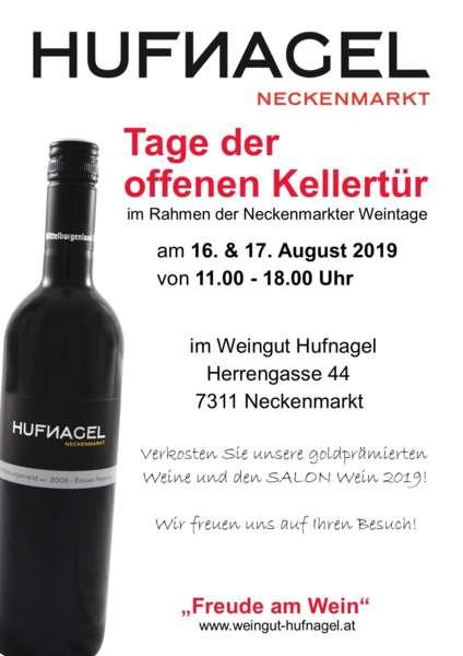 Tage der offenen Kellertür 2019 im Weingut Hufnagel, 7311 Neckenmarkt, Mittelburgenland - Bild 1