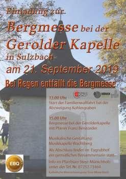 Bergmesse bei der Gerolder-Kapelle in Sulzbach