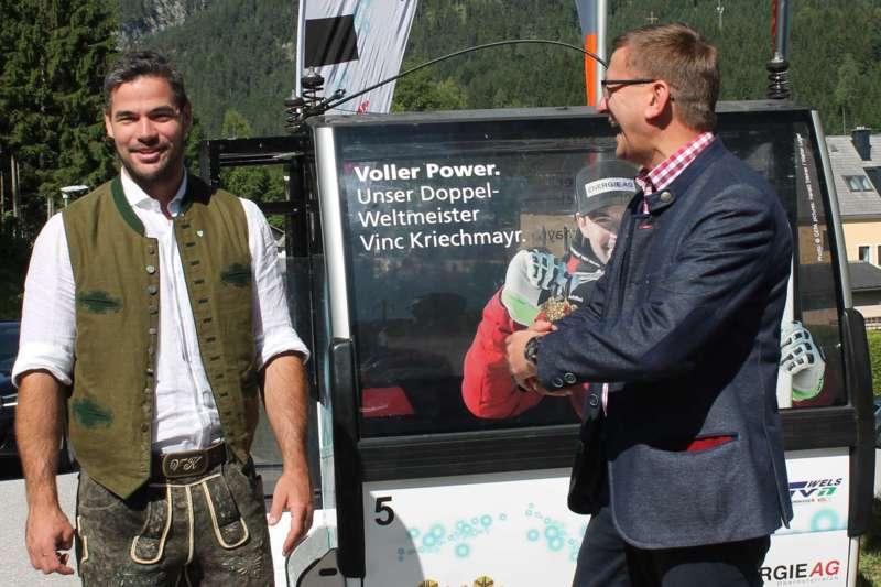 Vincent Kriechmayr erhält Weltmeistergondel und verlängert Sponsorvertrag - Bild 12
