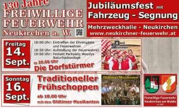 130 Jahre FF Neukirchen am Walde& LFA- Segnung