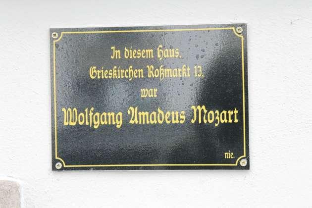 In sem Haus in Grieskirchen war Wolfgang Amadeus Mozart