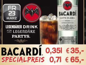 Bacardi Party in der Mausefalle