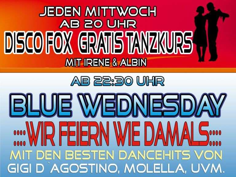 Jeden Mittwoch - Gratis Tanzkurs und Blue Wednesday - Bild 1