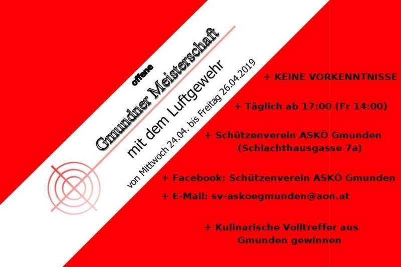 Offene Gmundner Meisterschaft mit dem Luftgewehr - Bild 1