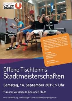 Offene Tischtennis Stadtmeisterschaften