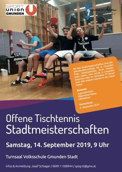 Offene Tischtennis Stadtmeisterschaften - Bild 1
