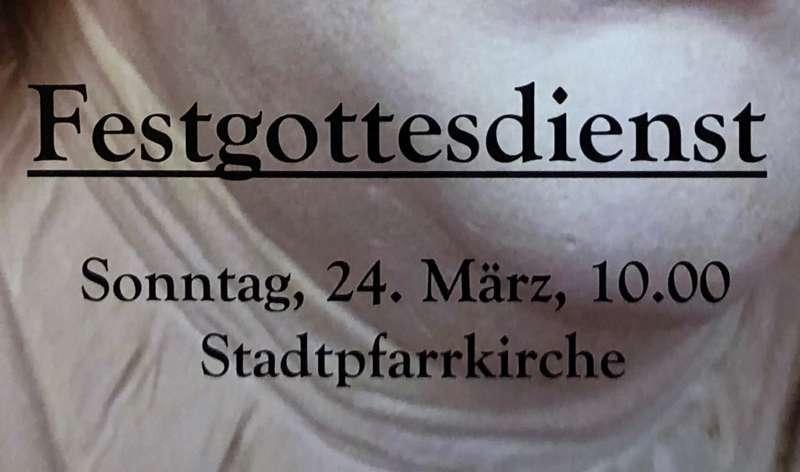 Letzte Veranstaltung der 20. Zwettler Bachtage – Festgottesdienst: Sonntag, 24. März 2019 - Bild 1552475465