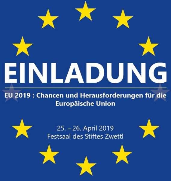 Do 25.4.2019 19 Uhr Podiumsdiskussion: Einladung EU 2019: Chancen und Herausforderungen für die EU - Bild 1
