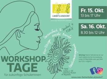 Workshoptage für zukünftige SchülerInnen 15./16.10.2021