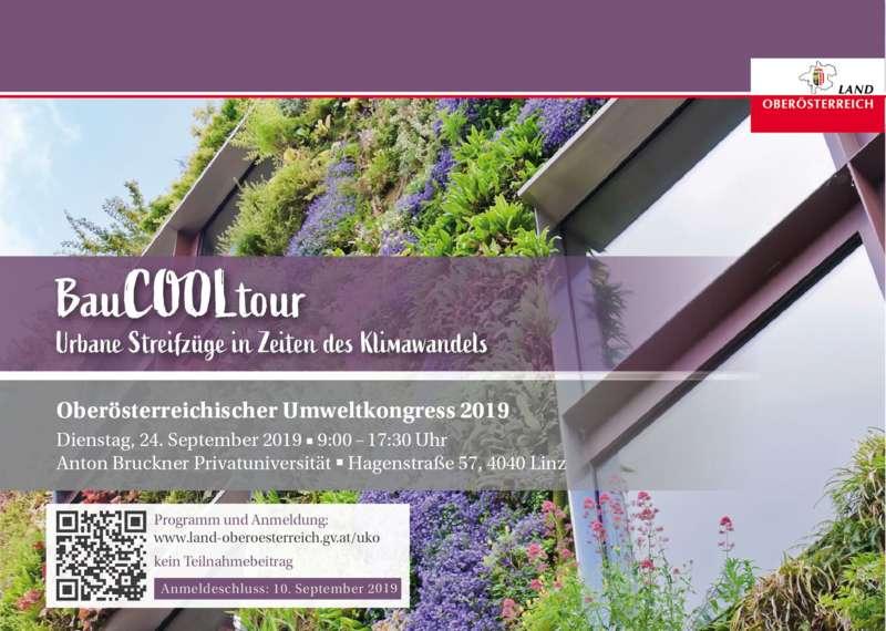 Oberösterreichischer Umweltkongress 2019: BauCOOLtour - Urbane Streifzüge in Zeiten des Klimawandels - Bild 1562738859