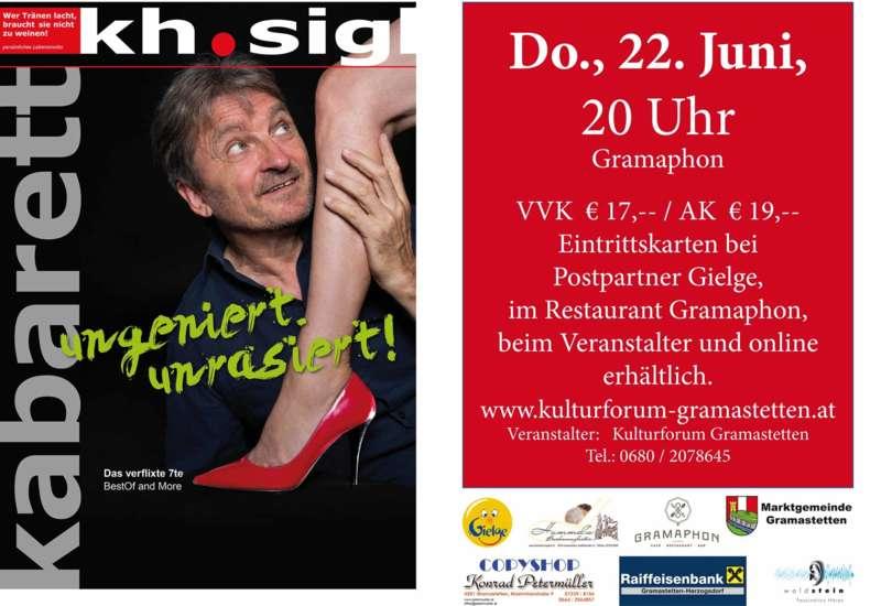 Kabarett mit Karl-Heinz Sigl ungeniert.unrasiert! Das verflixte 7te - BestOf and More - Bild 1