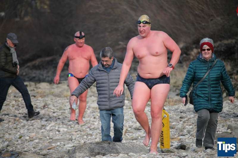 Sie haben es wieder getan: Eisschwimmer wagten sich bei Schönbühel in die Donau - Bild 12