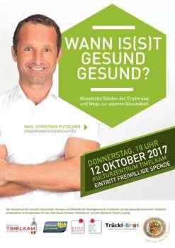 Mag. Christian Putscher: Wann is(s)t gesund gesund?