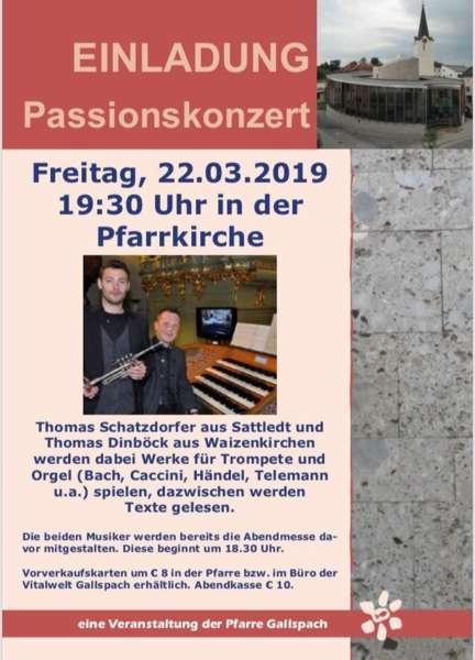 Passionskonzert in der Pfarrkirche Gallspach - Bild 2