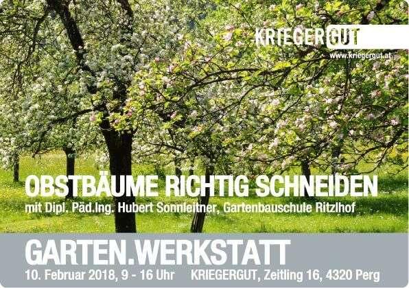 Garten Werkstatt Seminar Obstbaume Richtig Schneiden