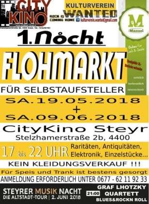 1 Nocht Flohmarkt City Kino Steyr Für Selbstaufsteller Verkäufer